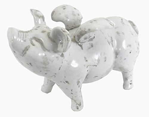 EliteKoopers Kleines fliegendes Schwein aus Keramik für Tierliebhaber Geschenkartikel