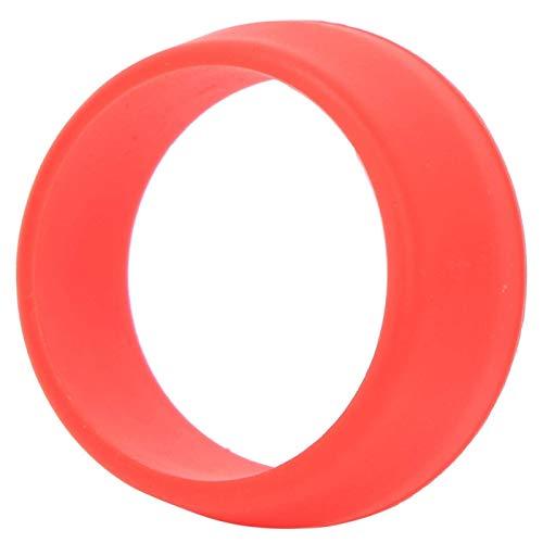 DAUERHAFT Asiento de Silicona Suave Cubierta Impermeable O Ring Tija de sillín de Bicicleta Arena Anti para Bicicleta(Red)