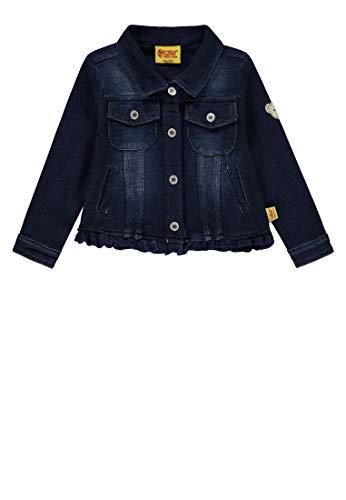 Steiff Mädchen Knitted Jeans Jacke, Blau (Dark Denim Blue 0012), 110