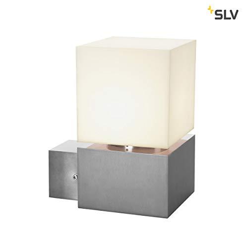 SLV LED Wandlampe SQUARE WL für die effektvolle Außenbeleuchtung von Hauseingang, Wänden, Wegen, Terrassen, Fassaden, Treppen | LED Wandleuchte, Aussenleuchte, Gartenlampe | E27, max. 20W, A - A++