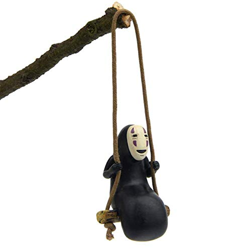 Cute Anime Accessories Hanging for Car Interior Ornaments Faceless Male Car Pendant No Face Man Swing Car Rearview Mirror Decor Birthday Gift Auto Crafts Doll