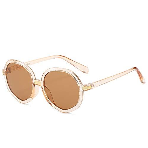 Gafas de Sol Gafas De Sol De Metal Irregulares con Personalidad Retro para Mujer, Gafas De Sol Transparentes Poligonales para Mujer, Gafas De Gran Tamaño para Vacaciones, Gafas para Mujer C7