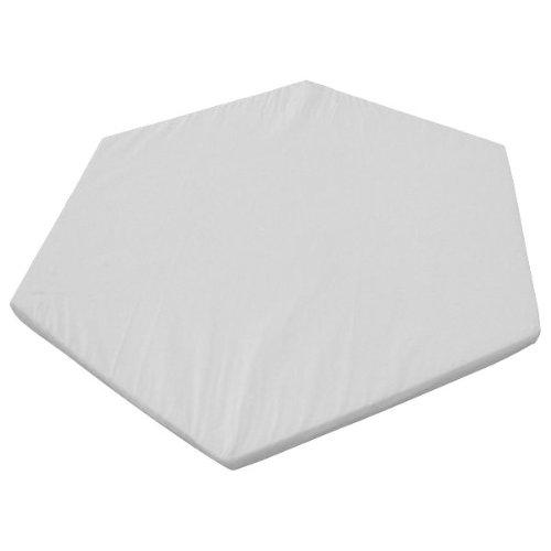 Kidsmax Laufgittermatratze für 6-Eck Laufgitter in weiß D3
