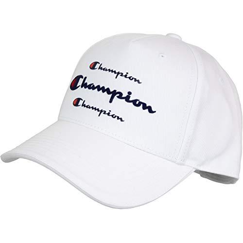 Champion Triple Logo Cap (one Size, White)