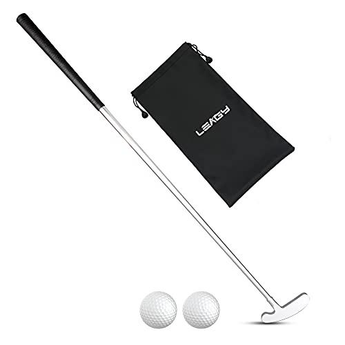 LEAGY Zwei-Wege-Putter - linke und rechte Hand - 2 Golfbälle - 1Pack Golfbags (links und rechts)