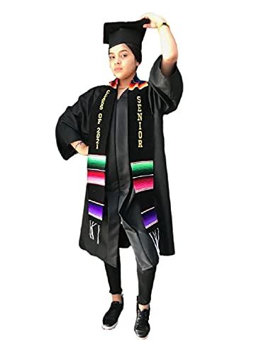 Clase de graduación de 2021 Sash Senior prenda túnica accesorio mexicano sarape Faja 1 pieza