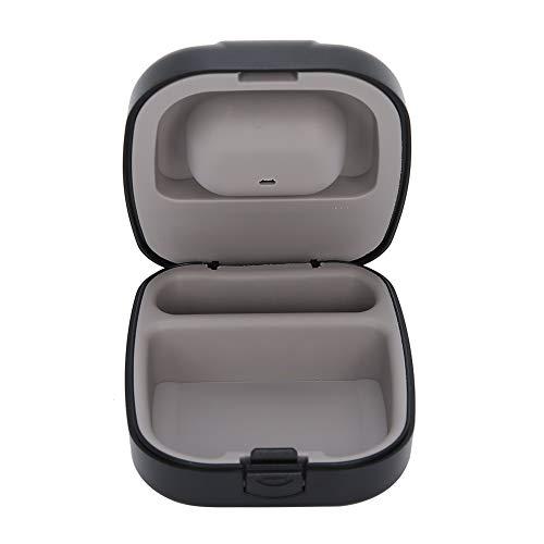 ????? ?????? ???? Hochwertiger Hörgerätekoffer, Hörgeräte-Aufbewahrungskoffer, leichtes, wasserdichtes, Robustes Gerät für Hörgeräte aus Kunststoff + Silikon 2,8 x 2,5 x 1,2 Zoll(Black