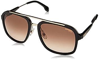 Carrera 133/S Square Sunglasses Black Gold/Brown Gradient 57mm 19mm
