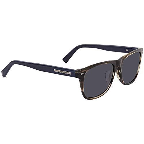 Ermenegildo Zegna Sonnenbrille EZ0020-F Gafas de sol, Gris (Gr), 56.0 para Hombre