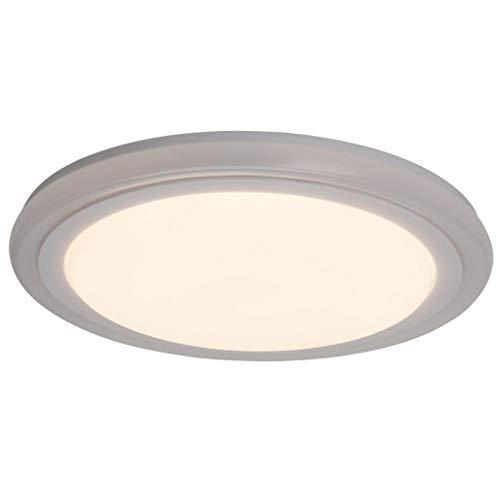 Brilliant Tizian LED Deckenleuchte Wandleuchte 30cm rund Fernbedienung dimmbar RGB Farbwechsel farbig beleuchteter Dekorand weiß Party 1300 Lumen, LED integriert