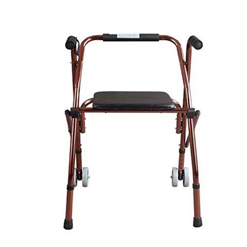 YASEking Andador de ancianos Walker Bastón Silla de bastón auxiliar Walker cuatro patas Bastón antideslizante bastón con el Hospital