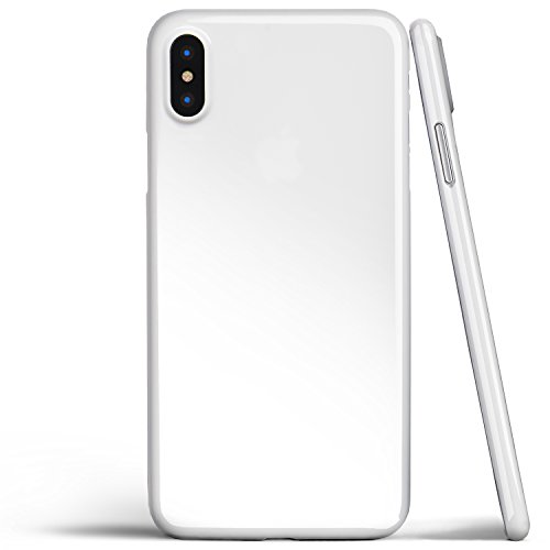iPhone X Case, Thinnest Cover Premium Ultra Thin Light Slim Minimal Anti-Scratch Protective - for Apple iPhone X   totallee (Jet White)