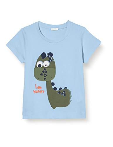 UNITED COLORS OF BENETTON T- Shirt Pull sans Manche, Bleu (Dusk Blue 29j), 80/86 (Taille Fabricant: 82) Bébé garçon