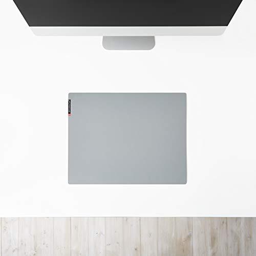 mine OFFICEKULTUR – Schreibunterlage Linoleum 44 x 34,5 cm, grau, Schreibtischunterlage