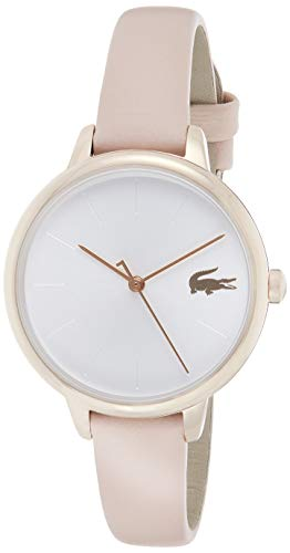 Lacoste Damen Analog Quartz Uhr mit Leder Armband 2001101