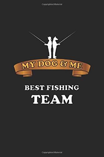 My Dog & Me Best Fishing Team: Notizbuch, Notizheft, Notizblock | Geschenk-Idee für Angler mit Hund | Karo | A5 | 120 Seiten