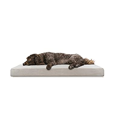 FurHaven Deluxe Orthopedic Pet Bed Mattress for Dogs and Cats, Clay, Large