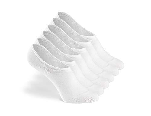 Greylags Calcetines Prima Calidad Cómodo Seamless Invisible Sneaker Calcetines | Algodón Peinado Calcetines | Hombres y mujeres | 88% Algodón | Certificado Oeko-Tex Standard 100 | Paquete de 6