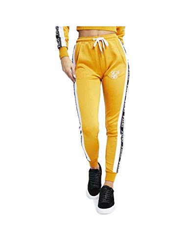 Pantalones Siksilk – 90´s Panel Poly Joggers Amarillo/Blanco/Negro Talla: 10 S (Small)