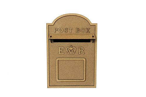 ASVP Shop Hochzeits-Briefkasten, flach verpackt aus unlackierter MDF im Royal-Mail-Stil für...
