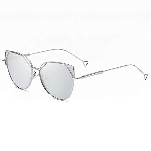 LK-HOME Gafas De Sol Polarizadas,Mujer Hombre Sunglasses Anti-Ultravioleta,Elegantes Marcos Metal Ultraligeros Retro Adecuados Deportes Al Aire Libre Pilotos Conducción Conducción,Blanco
