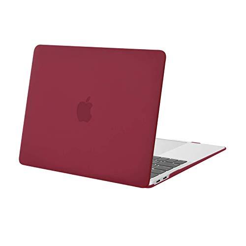 MOSISO Funda Dura Compatible con 2020-2018 MacBook Air 13 Pulgadas A2337 M1 A2179 A1932 con Pantalla Retina & Touch ID,Ultra Delgado Carcasa Rígida Protector de Plástico Cubierta,Vino Rojo