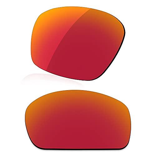 LenzReborn Reemplazo de lente polarizada para Arnette Corner Man AN4216 Sunglass - Más opciones, Rojo Fuego - Espejo polarizado, Talla única