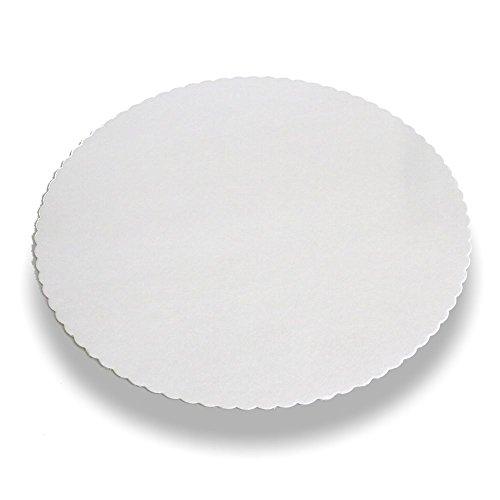 Wertpack 100x Tortenunterlagen in weiß, rund, 30cm Durchmesser, unbeschichtet und gezackt
