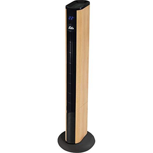 Solis Easy Breezy Wood Effect 757 - Ventilador de Torre silencioso Elegante - Sigiloso para Uso en casa o en la Oficina - Modo Especial Nocturno - Mejora la Calidad del Aire - Incluye Control Remoto