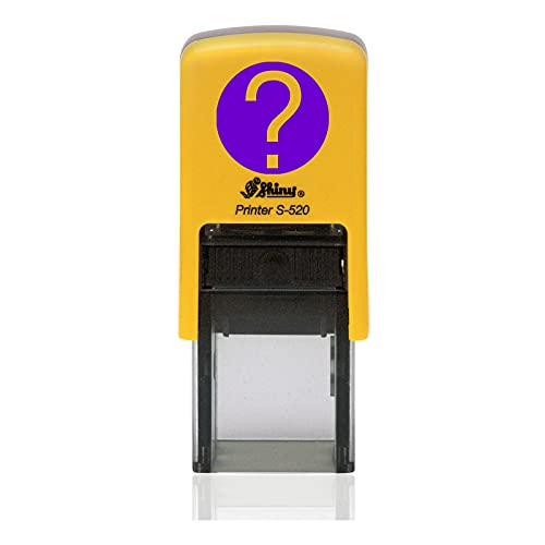 IMPACT2PRINT Shiny 520 Auto entintado QUESTION MARK Diseño Redondo Mini Sello de Goma Personalizado Sellos para Maestros Oficina Estacionario