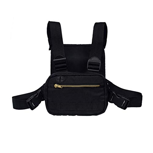 Herren Damen Schultertaschen Mode Brust Rig Tasche Hip Hop Verstellbare Crossbody