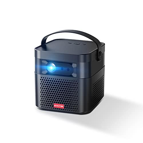 BYINTEK U70 Pro Proyector 3D portátil 4K, Proyector DLP Compatible con 1080p 4K, Cine en casa LED con batería Recargable, Proyección inalámbrica para Tableta y teléfono Inteligente (U70PRO)