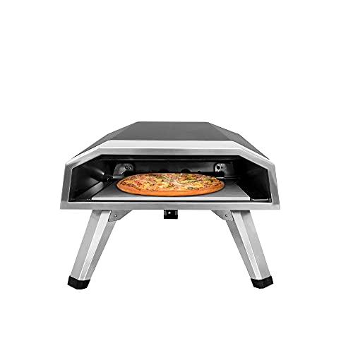 Horno Portátil Para Pizza A Gas, Horno G Portátil Clásico Con Revestimiento Negro, Incluye Piedra Para Pizza Y Cáscara Para Pizza De 12 Pulgadas Con Mango De Madera