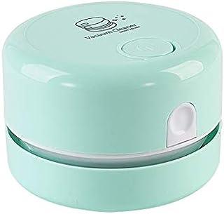 Rfvtgb Desktop Vacuum Cleaner, Table Dust Sweeper, Handheld Cordless Tabletop Vacuum Cleaning for Keyboard School,Green