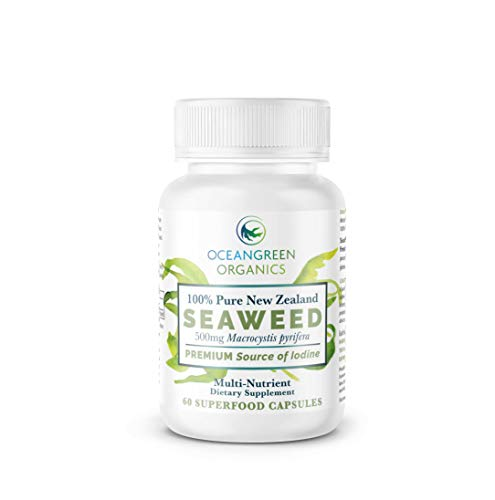 Seaweed Kelp Supplements New Zealand |100% Pure Organic & Natural | Natural Source of Iodine | Natural Multi-Vitamin | Thyroid Support | Oceangreen Organics