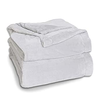 Effortless Bedding Oversized Plush Semi-Fitted Bed Blanket  Twin/TwinXL Light Gray
