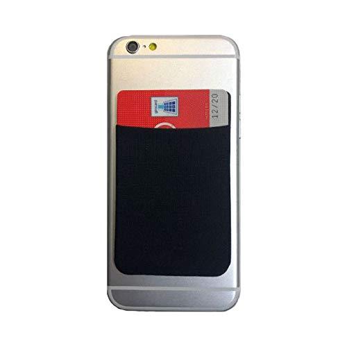 Kreditkartenfach Kreditkarten Halter Tasche Etui Klebetasche für Huawei Ascend Y330 Handy Smartphone
