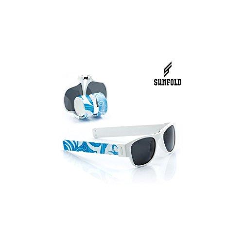 Sunfold Street Gafas de Sol Enrollables, Hombre, Blanco y Azul, Talla Única
