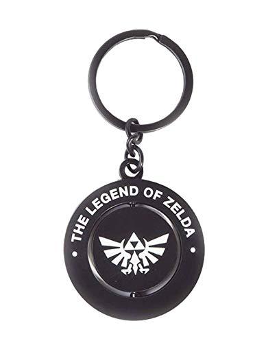 The Legend of Zelda Llavero giratorio de metal negro y...