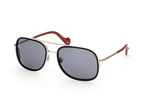 Moncler sonnenbrille ML0145 92C Blau rauch-größe 61 mm Mann