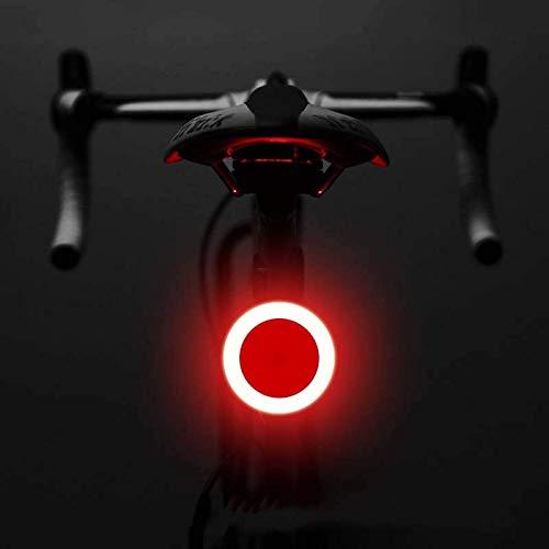 ZHBH Luz de bicicleta con múltiples modos de iluminación para bicicleta, carga USB, luz LED para bicicleta, luces traseras de montaña, tija de sillín