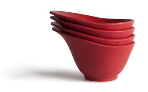 Architec Purelast Lot de 4 bols de préparation Rouge