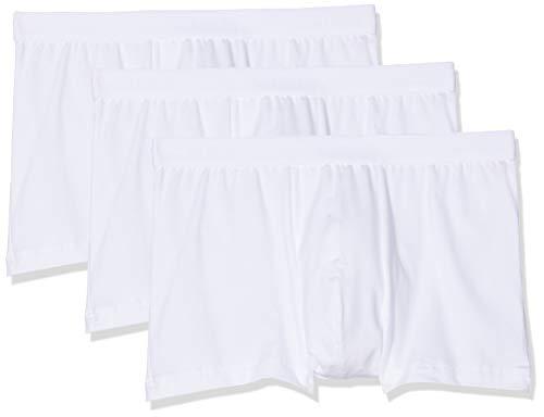Calida Herren Natural Benefit Boxershorts (3er pack), Weiß (weiss 001), X-Large (Herstellergröße:XL)