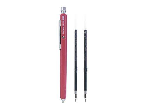 Ohto Needle-Point Horizon EU Pen Ballpoint Pen 0.7 mm (NBP-887H-PK) - Pink Body with Two Extra Refills (No.897NP)
