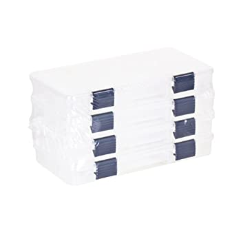 Plano Tackle Boxes,4 pack of 3500 Prolatch Stowaway Tackle Utility Boxes Fishing Tackle Storage blue