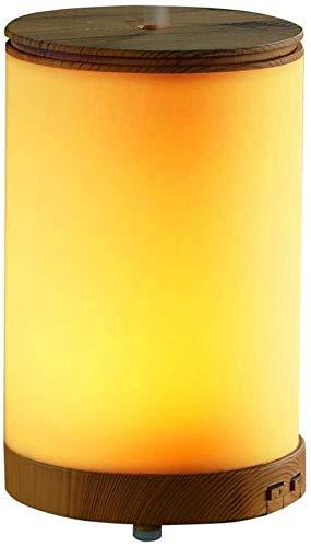 100ml Creative Wood Grain Aromatherapie luchtbevochtiger Mini Huishoudelijk Kantoor Slaapkamer Mute luchtzuivering etherische olie Aromatherapie Diffuser LED Night Light 9 * 15cm