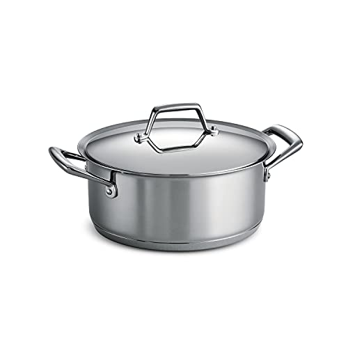 Tramontina Covered Dutch Oven Stainless Steel Tri-Ply Base 5 Quart,...