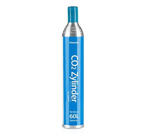 Homewit CO2 Zylinder | erstbefüllt in Deutschland | Pro Füllung bis zu 60 L Sprudelwasser | geeignet für SodaStream(z.B. SodaStream Crystal, Easy, Power & Cool) Wassersprudler usw.
