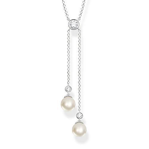Thomas Sabo Damen-Perlenkette 925 Sterlingsilber KE1905-167-14-L45v