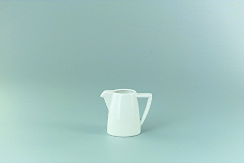Schönwald Milchgießer, Premiere, Mehrweg, spülmaschinengeeignet, Porzellan, konisch, 150 ml, weiß (3 Stück), Sie erhalten 1 Packung á 3 Stück